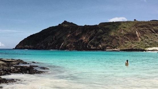 Vista de playa en Cerro Brujo