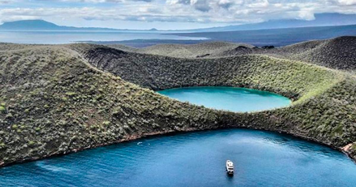 Vista aérea de la Isla Isabela