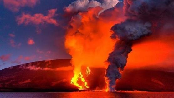 Isla Fernandina en Galápagos