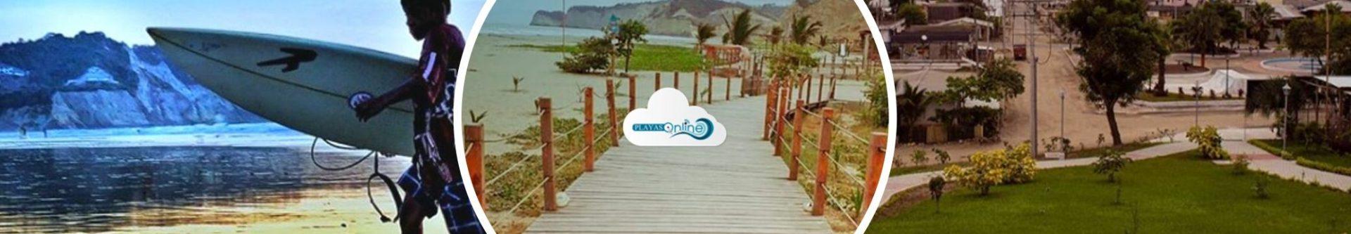 Playa de Canoa en Manabí, Ecuador